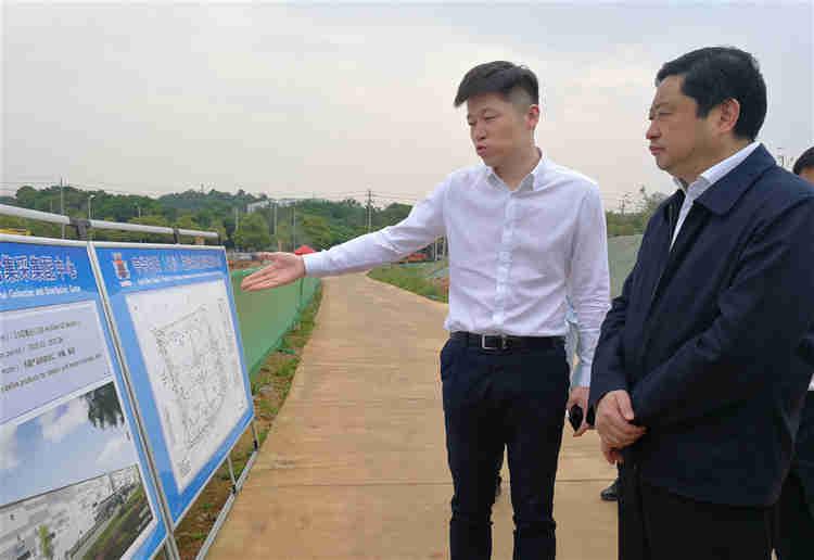 市领导调研开福区重大产业项目建设